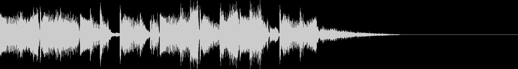 EDM風ハウスジングルの未再生の波形