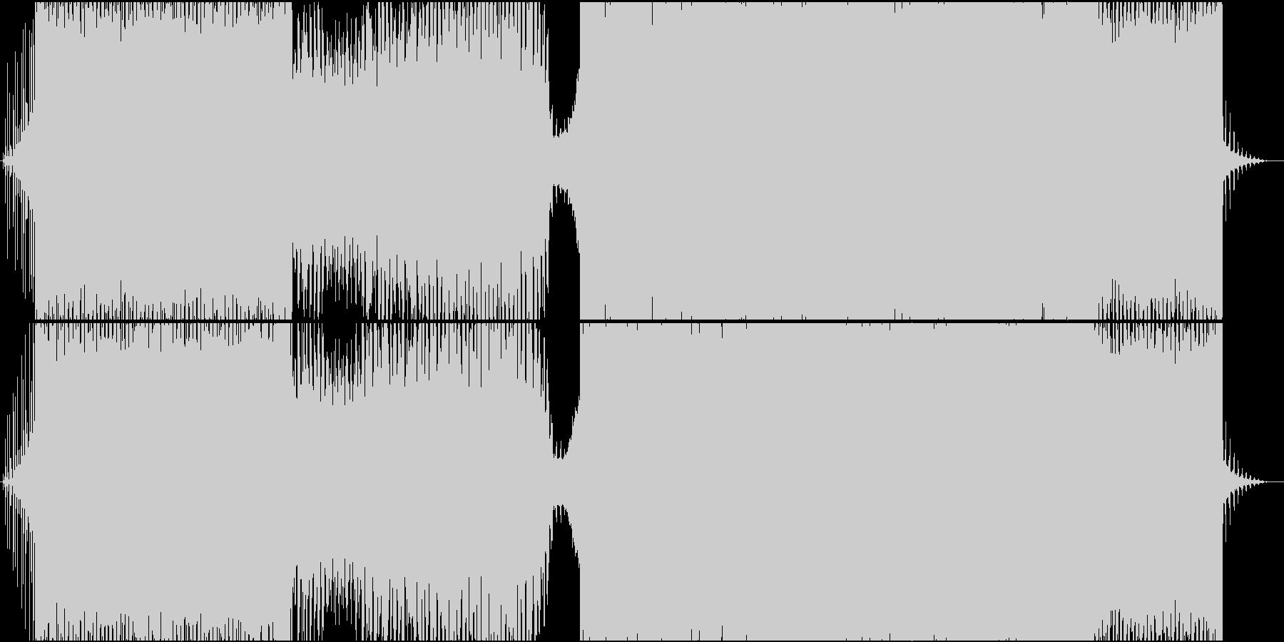 都会的なサウンドのテクノの未再生の波形