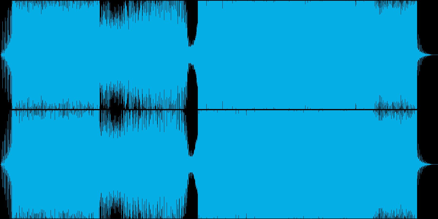 都会的なサウンドのテクノの再生済みの波形