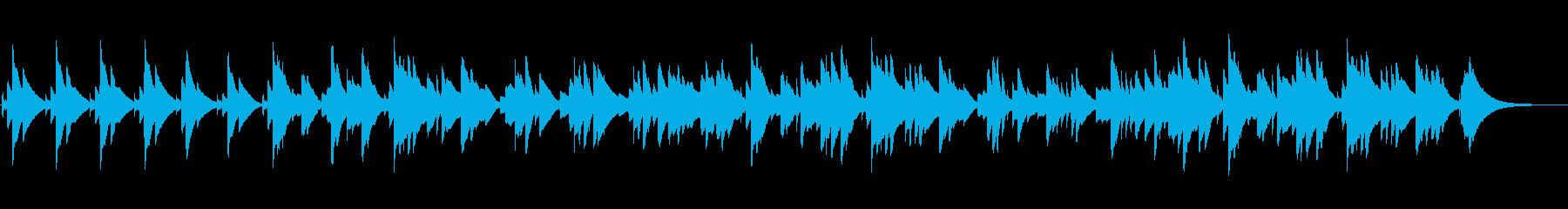 眠くなるオルゴールのBGM(2分30秒)の再生済みの波形