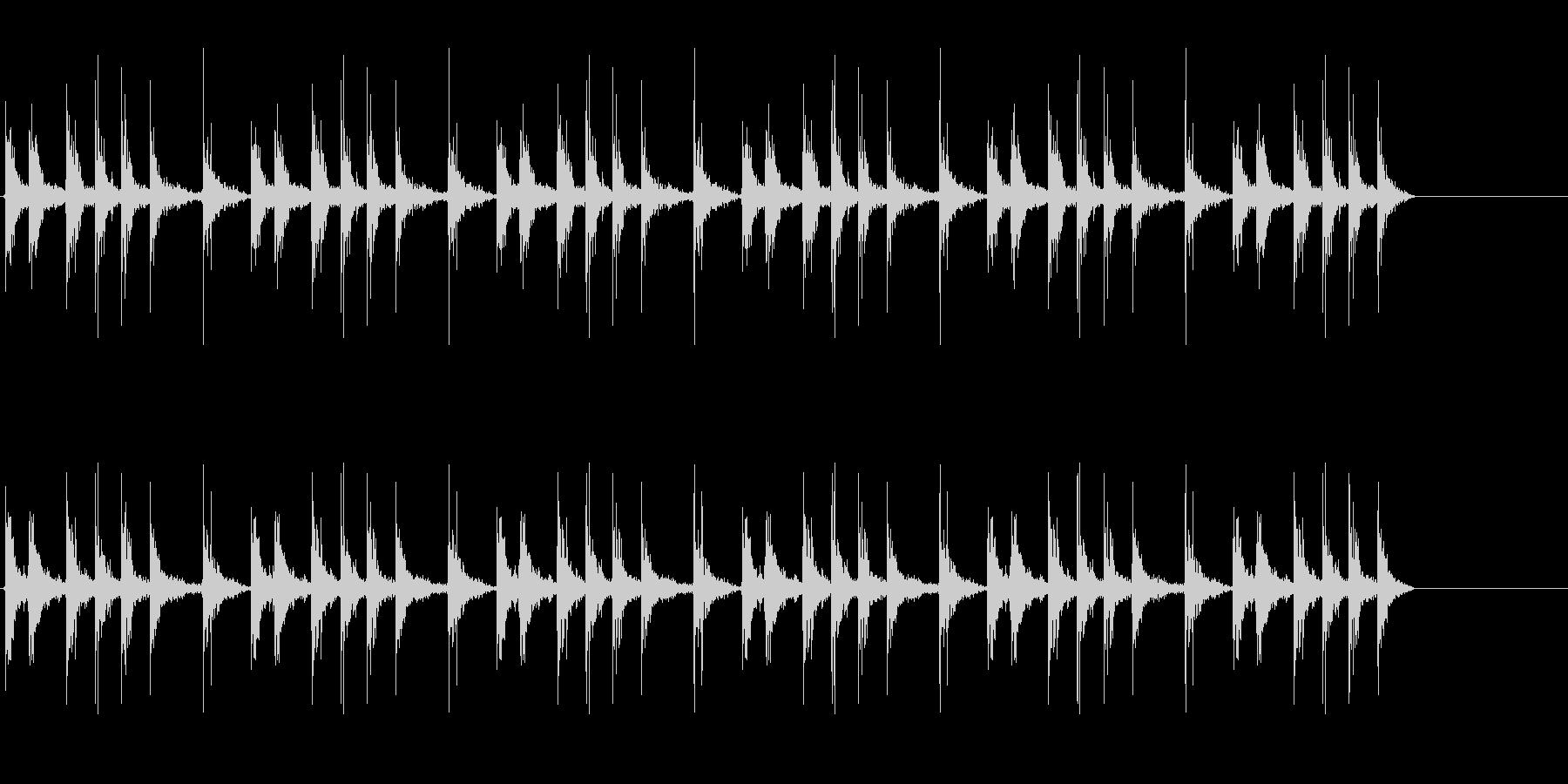 カタカタとネジを巻く音、おもちゃゼンマイの未再生の波形