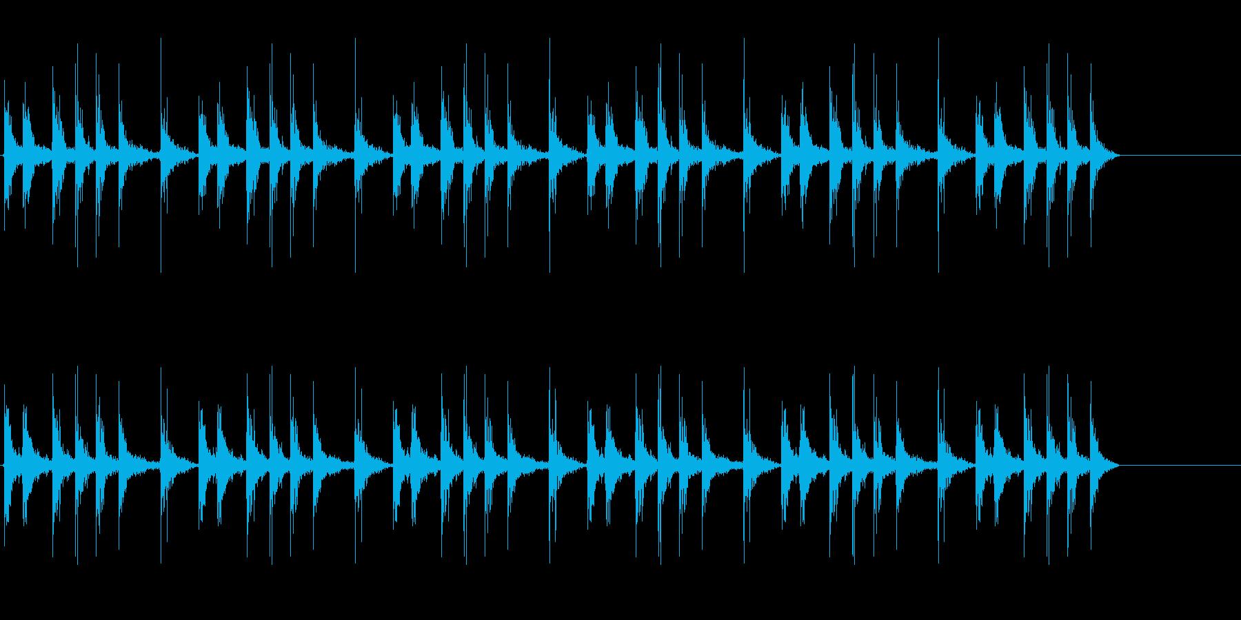 カタカタとネジを巻く音、おもちゃゼンマイの再生済みの波形