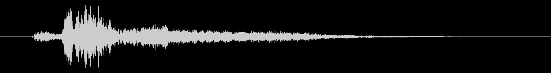 【SFXスクラッチ音止まる】シュルシュルの未再生の波形