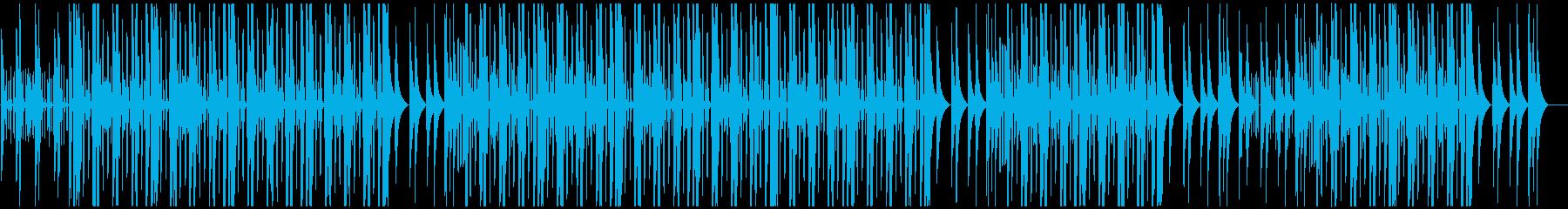 ミドルテンポポップダンス、R&Bビート♪の再生済みの波形
