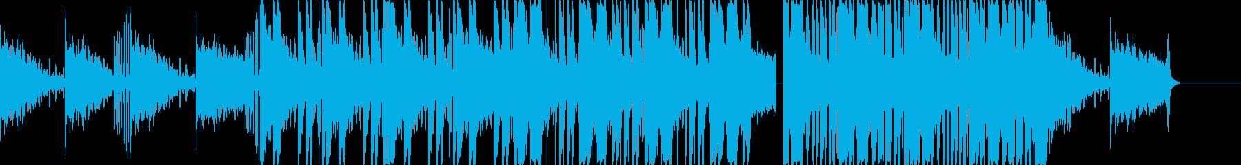 地底世界をイメージしたEDM/TRAP曲の再生済みの波形