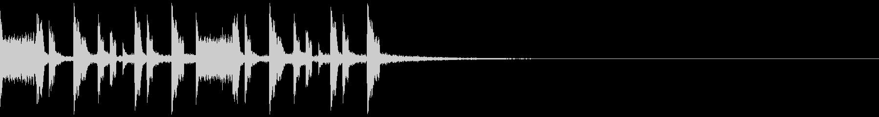 エスニックな打楽器のEDMジングルの未再生の波形