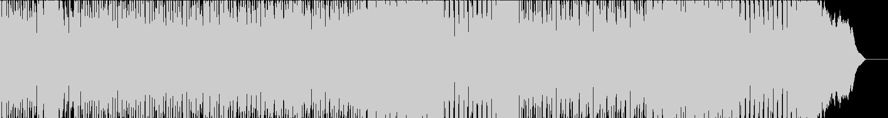 オープニング感のあるデジタル系ロックの未再生の波形