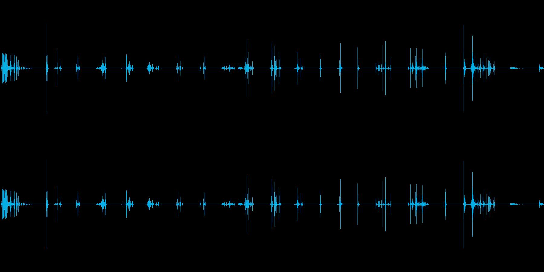 ラックからの要素:メタル/ウッドセ...の再生済みの波形
