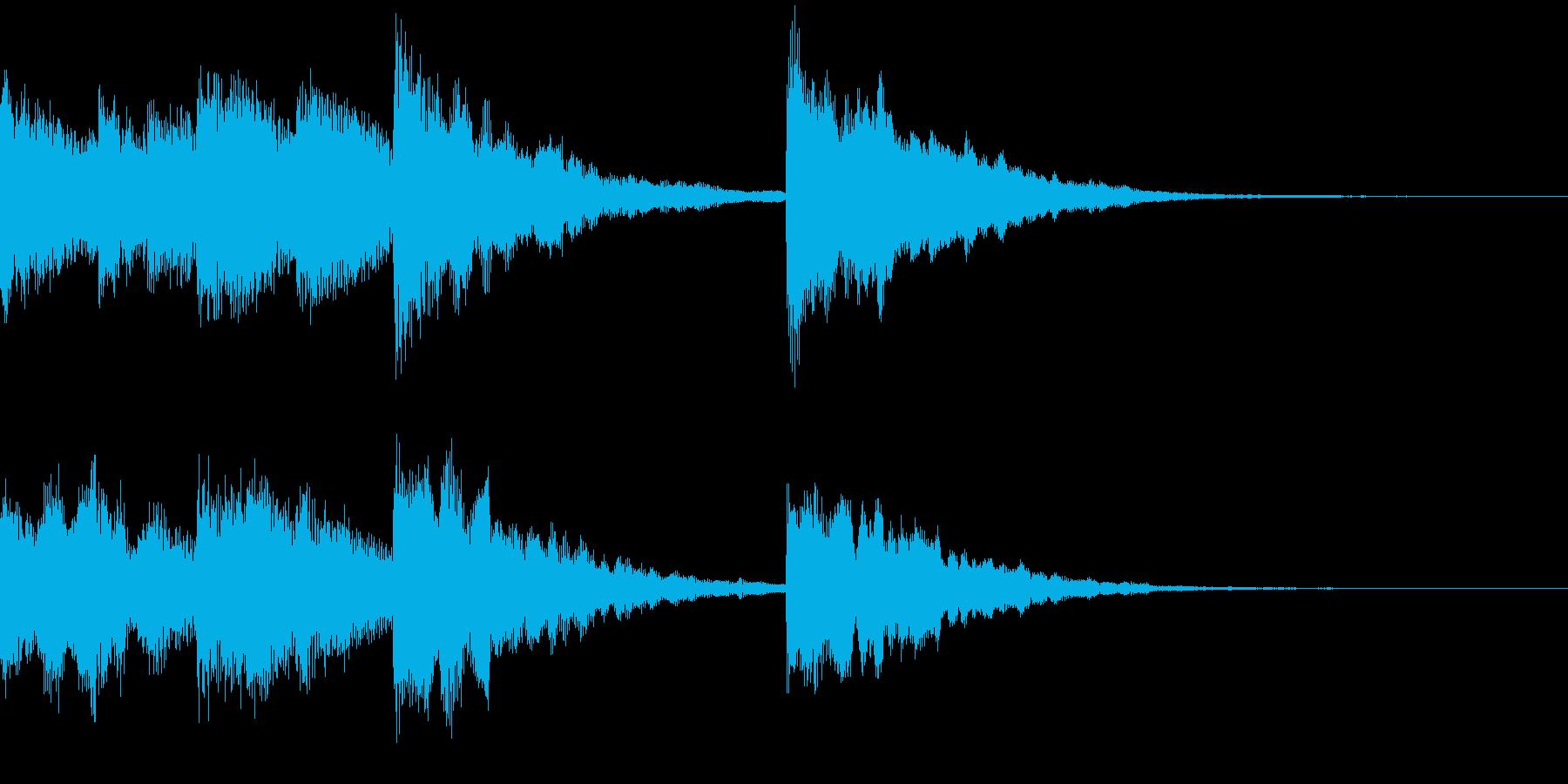 復活系ジングルの再生済みの波形