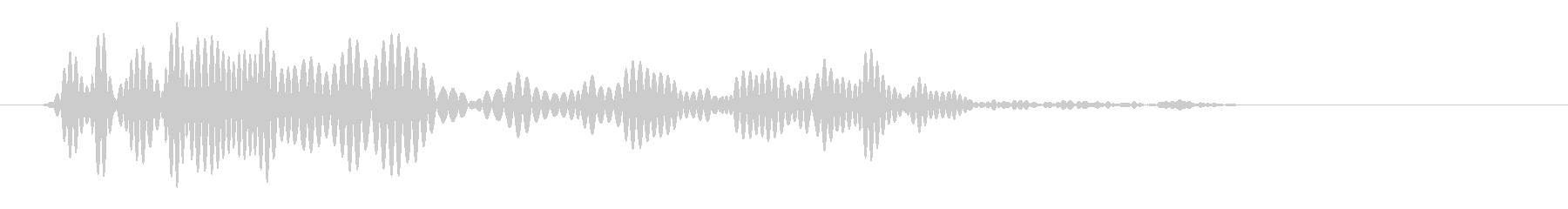 ゴバッ(短めの音色)の未再生の波形
