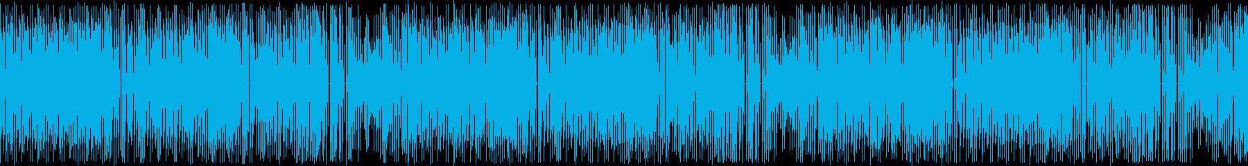 ループ再生・レトロゲーム風・明るい中華風の再生済みの波形