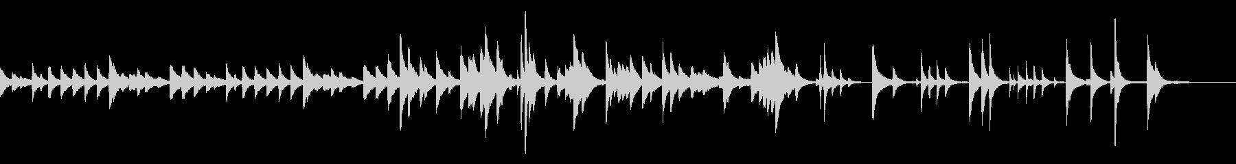 ささやかなジャズ風ピアノの未再生の波形