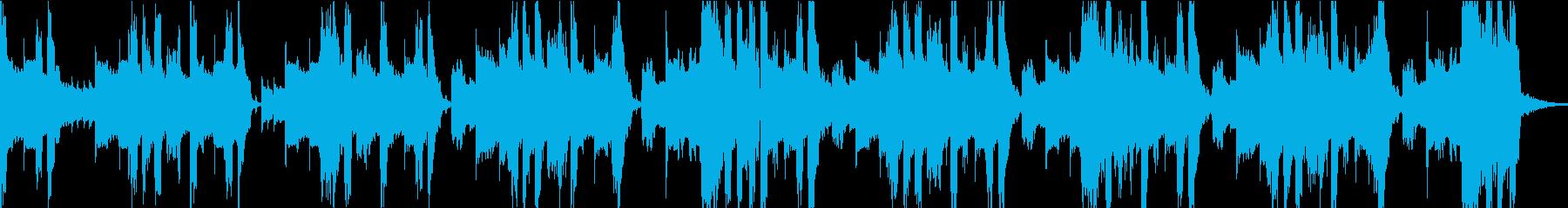 攻撃的なダブステップジングルの再生済みの波形