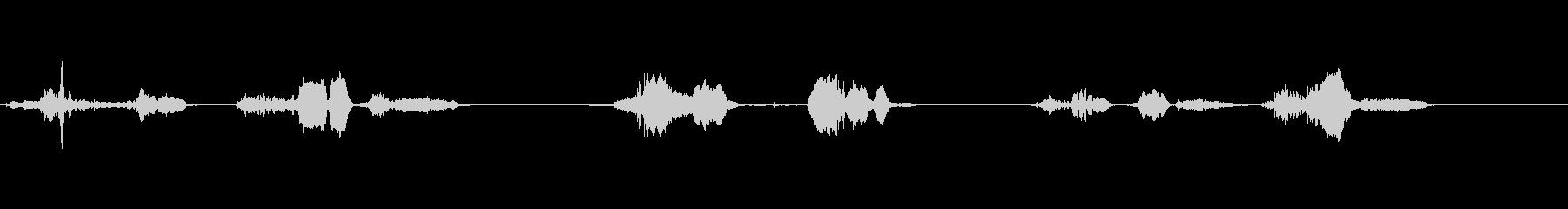 ヒンジきしみ;きしむヒンジの3つの...の未再生の波形