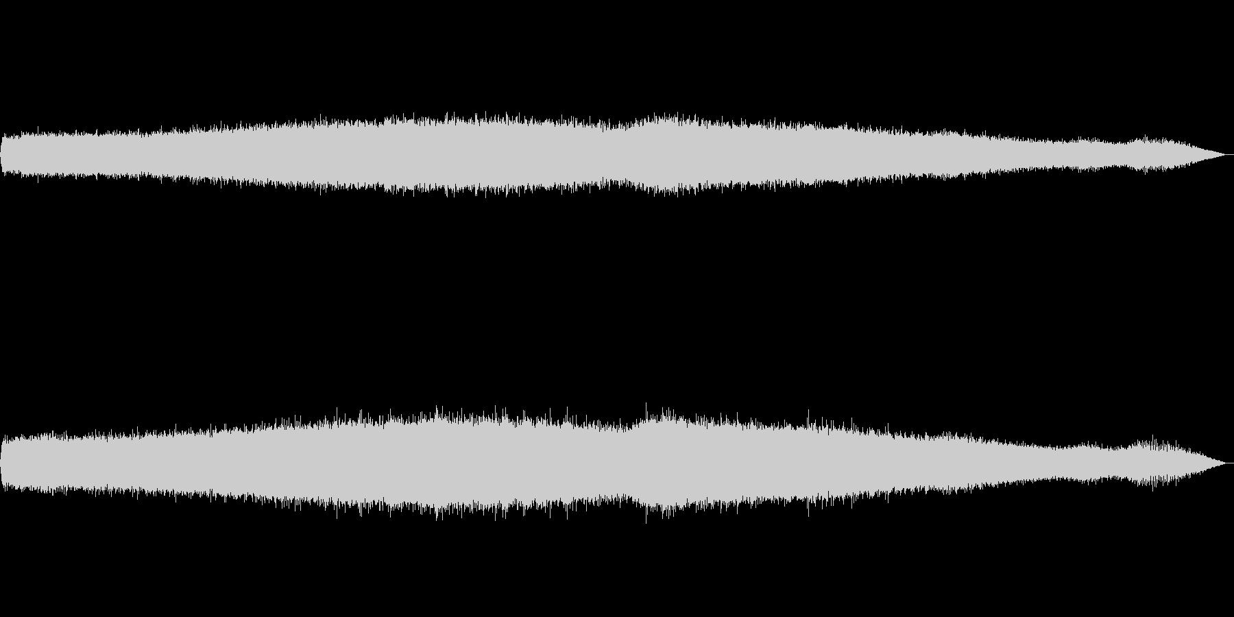 夏の夕方(ひぐらし、アブラゼミ)の未再生の波形