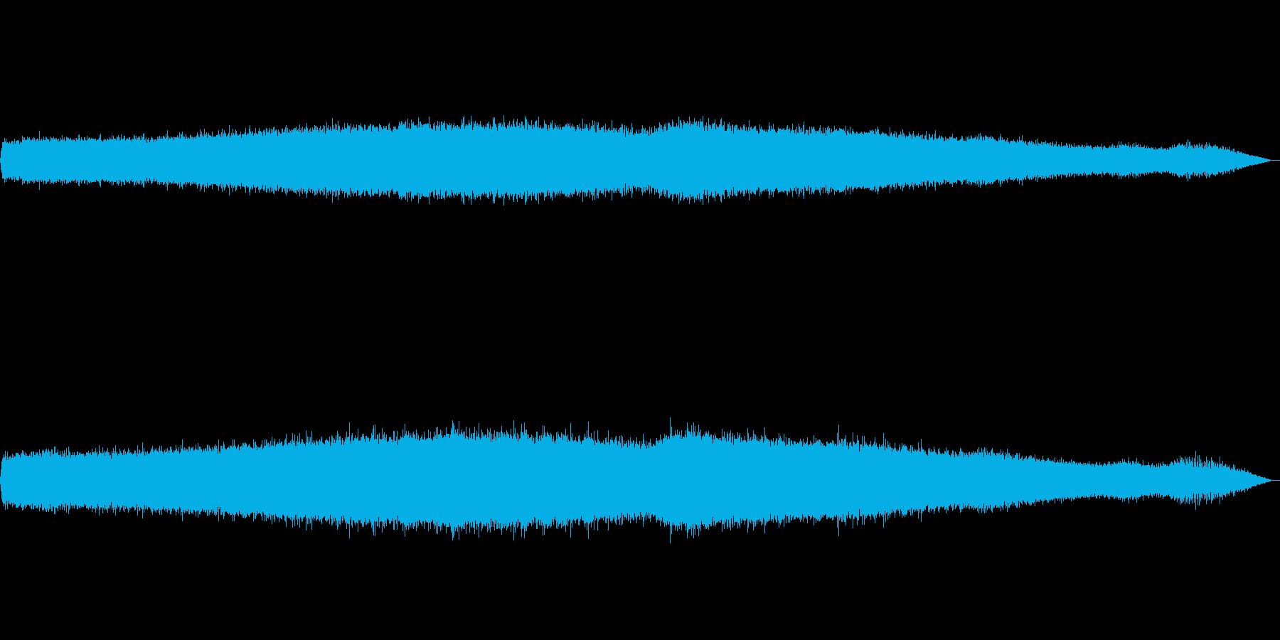 夏の夕方(ひぐらし、アブラゼミ)の再生済みの波形