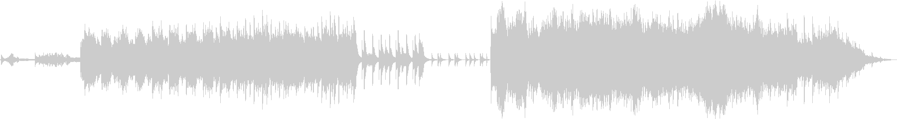 癒し風のピアノ・オーケストラBGMの未再生の波形