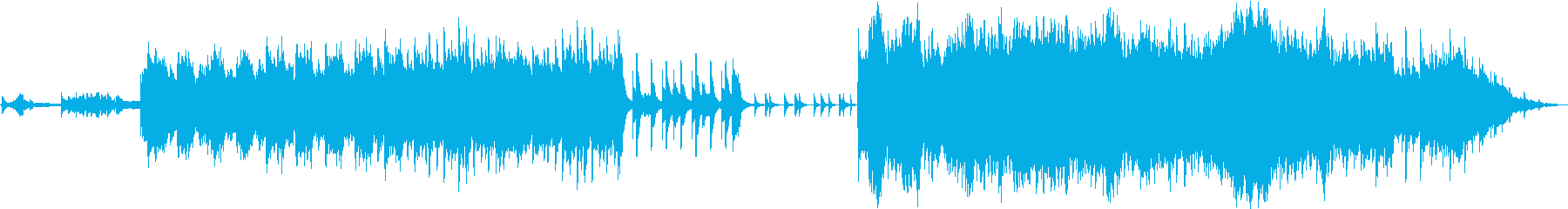 癒し風のピアノ・オーケストラBGMの再生済みの波形