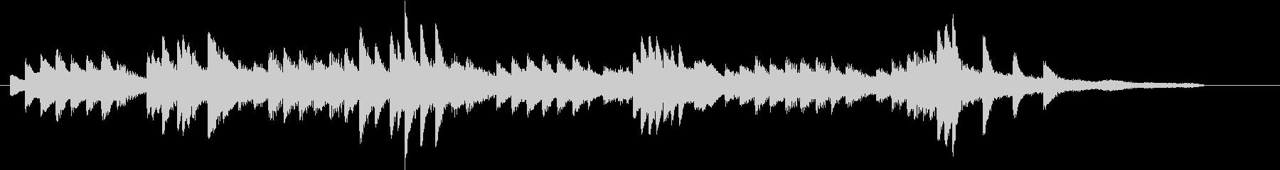優美で美しいチャイニーズピアノジングルの未再生の波形