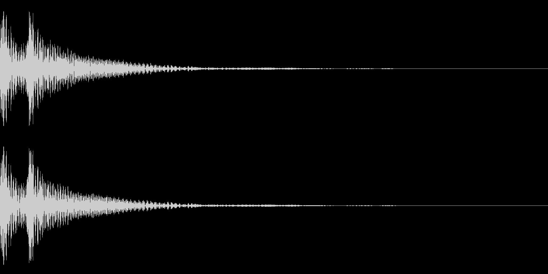 和風「ドドン」大太鼓+当り鉦+大鼓 遅めの未再生の波形