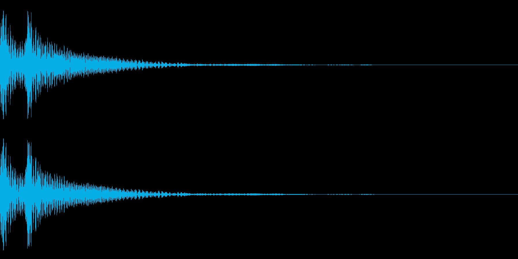 和風「ドドン」大太鼓+当り鉦+大鼓 遅めの再生済みの波形