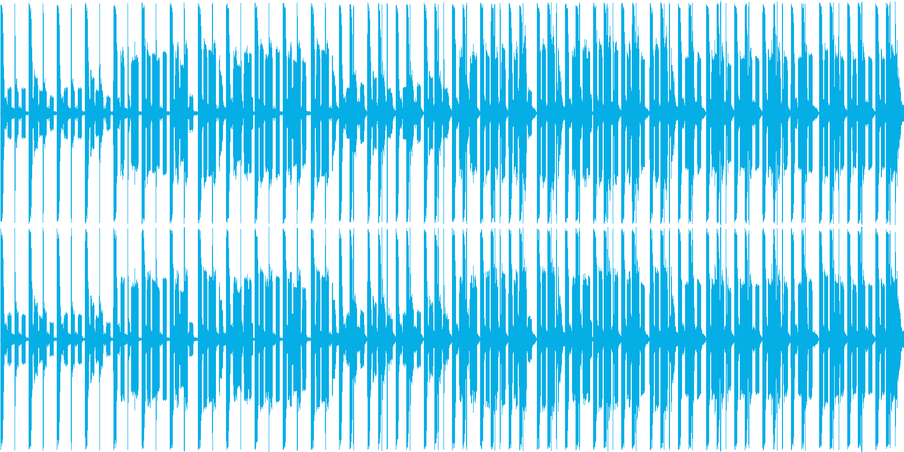 短い曲ですの再生済みの波形