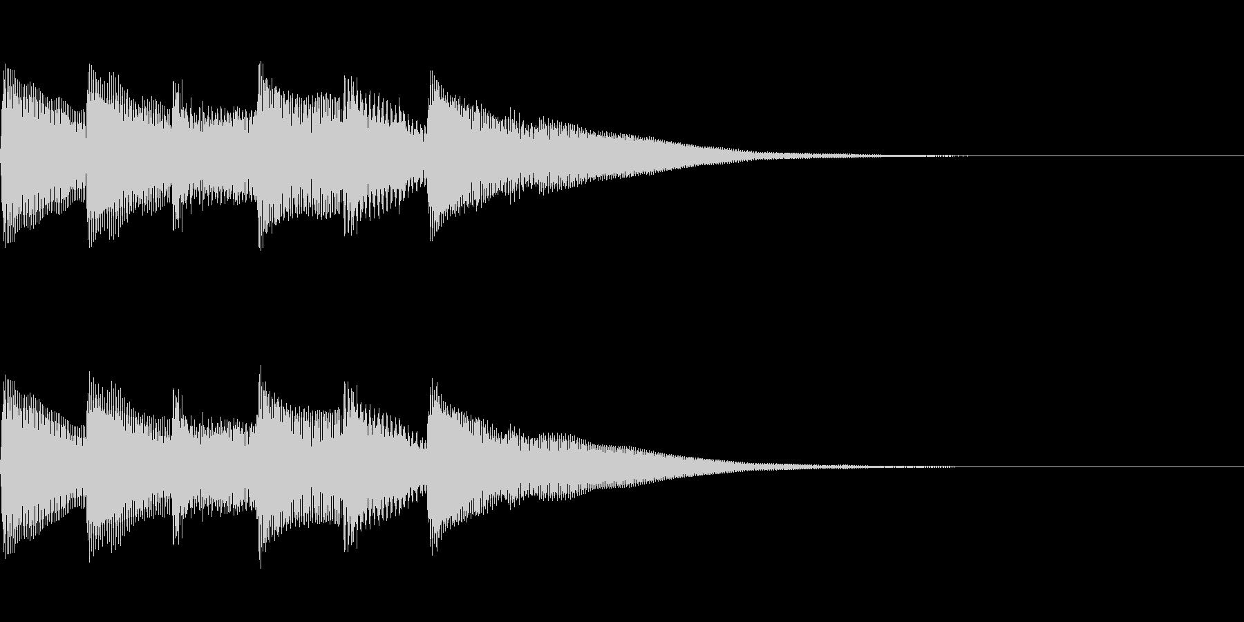 正解 2A 明るい音色 ピポピポピポーンの未再生の波形