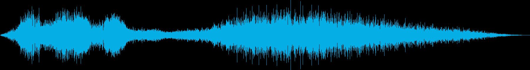 重いコンピュータークラッシュパワーダウンの再生済みの波形