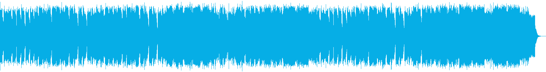シャッフルのリズムに可愛げなSAXのメロの再生済みの波形