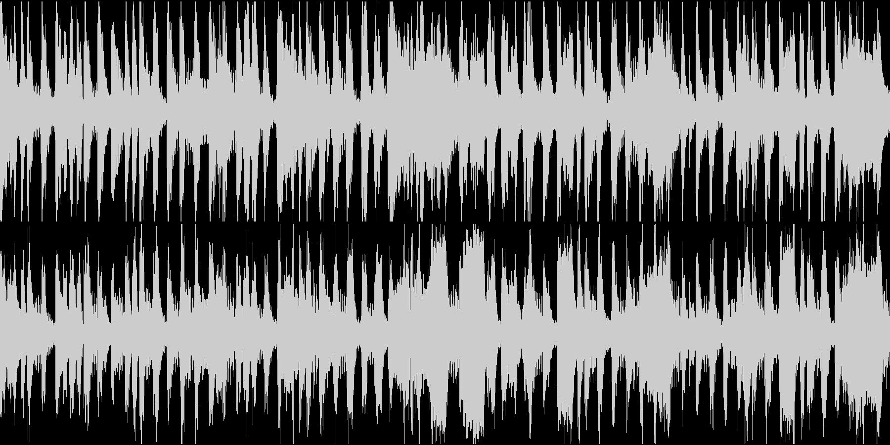 チンドン屋の街回りの音楽の未再生の波形