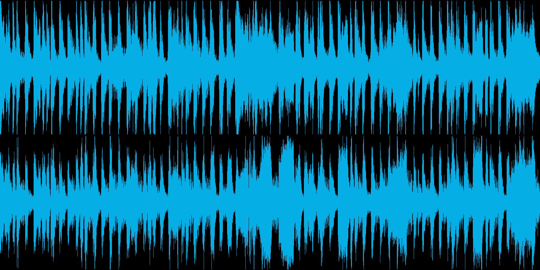 チンドン屋の街回りの音楽の再生済みの波形