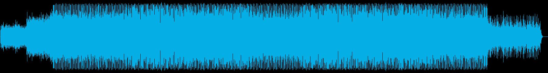 美しいピアノの旋律、ユーロ系テクノの再生済みの波形