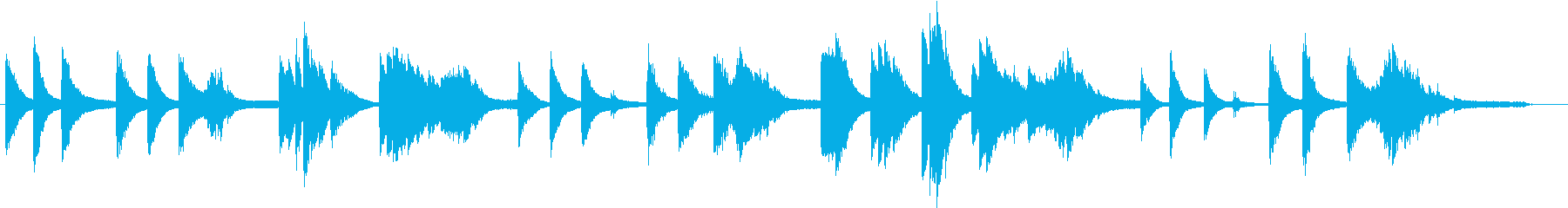 浮遊感、不思議なイメージのピアノソロの再生済みの波形