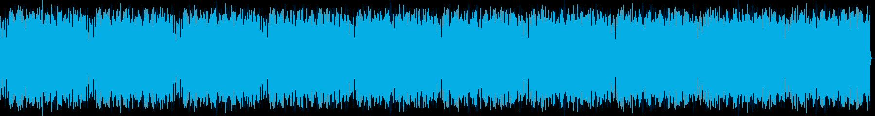 リズミカルで楽しげな音楽の再生済みの波形