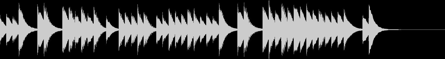 優しい気持ちになれるシンプルな鉄琴音楽の未再生の波形