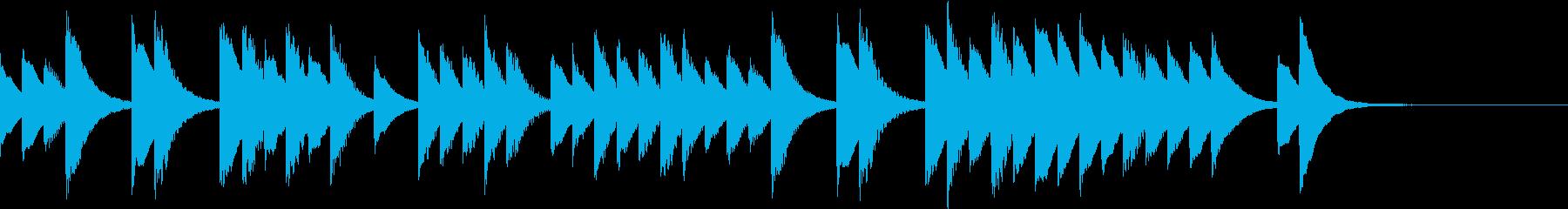 優しい気持ちになれるシンプルな鉄琴音楽の再生済みの波形