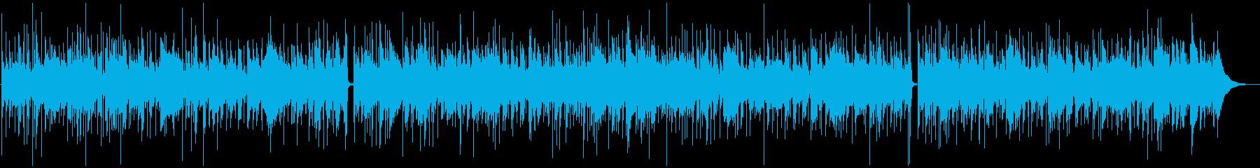 ソフトなR&B風BGMの再生済みの波形