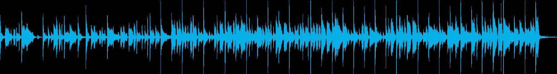 軽快なでリズミカルなファンクの再生済みの波形