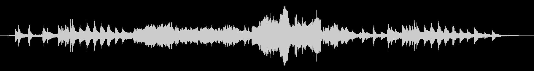 自然界の音と音楽のアンビエント作品の未再生の波形