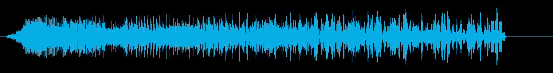 ビューン(ビーム音、警告音)の再生済みの波形
