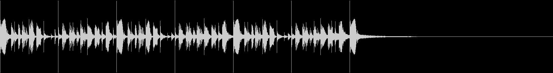 ドラム&ベースのスタイリッシュジングルの未再生の波形