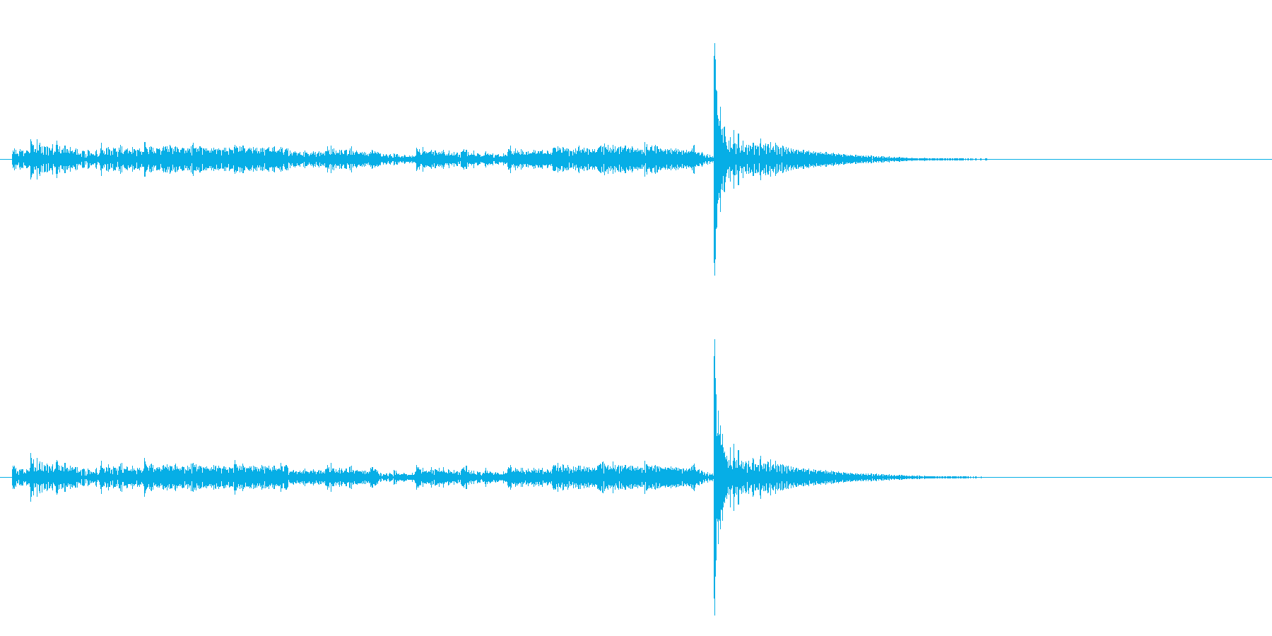 「ドロドロ…」大太鼓のフレーズ音+FXの再生済みの波形