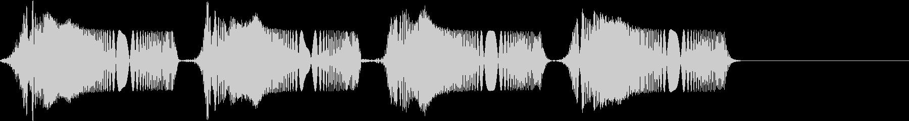 ピピ..。冷汗・震える音C(高め・短め)の未再生の波形