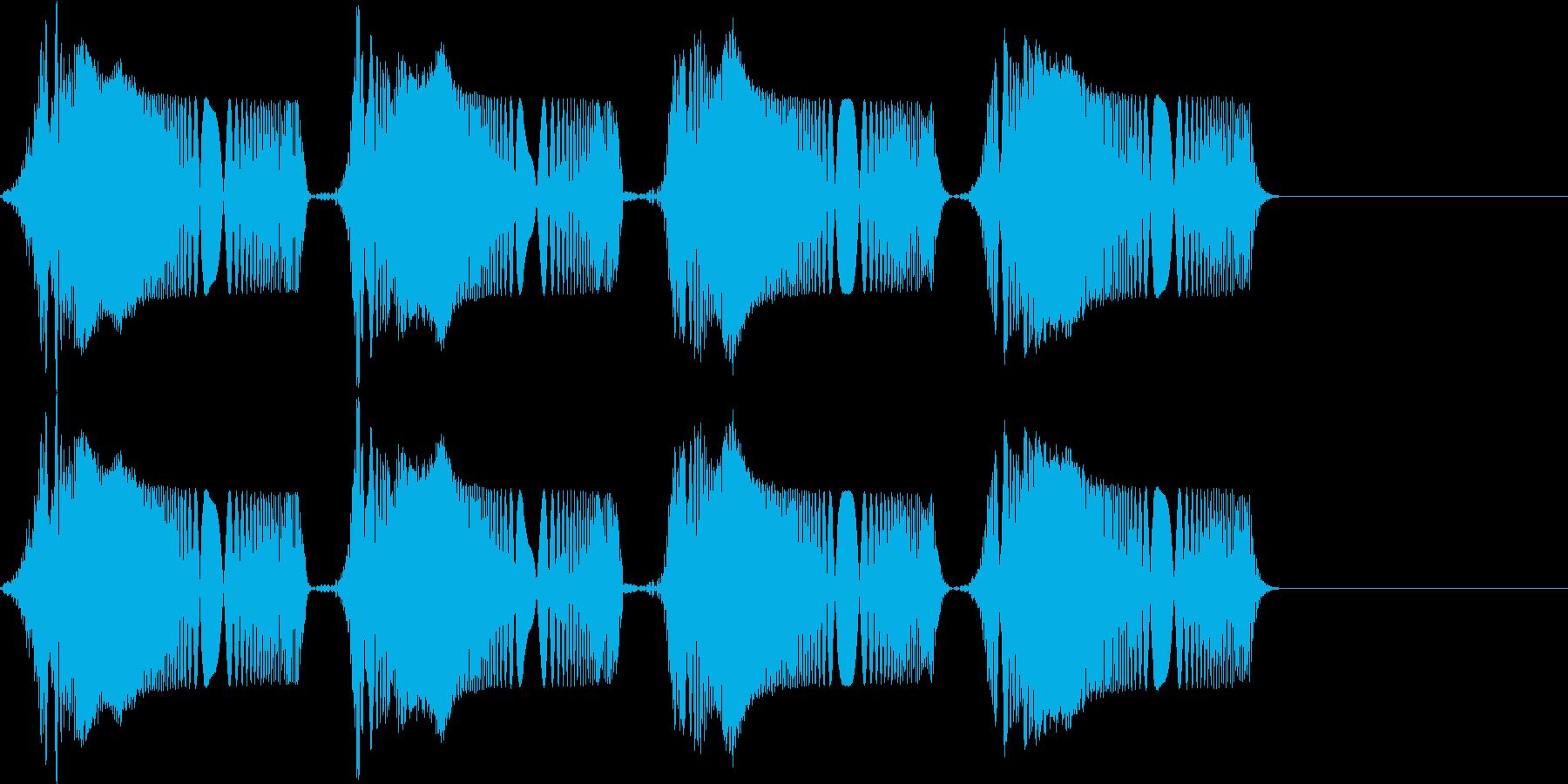 ピピ..。冷汗・震える音C(高め・短め)の再生済みの波形