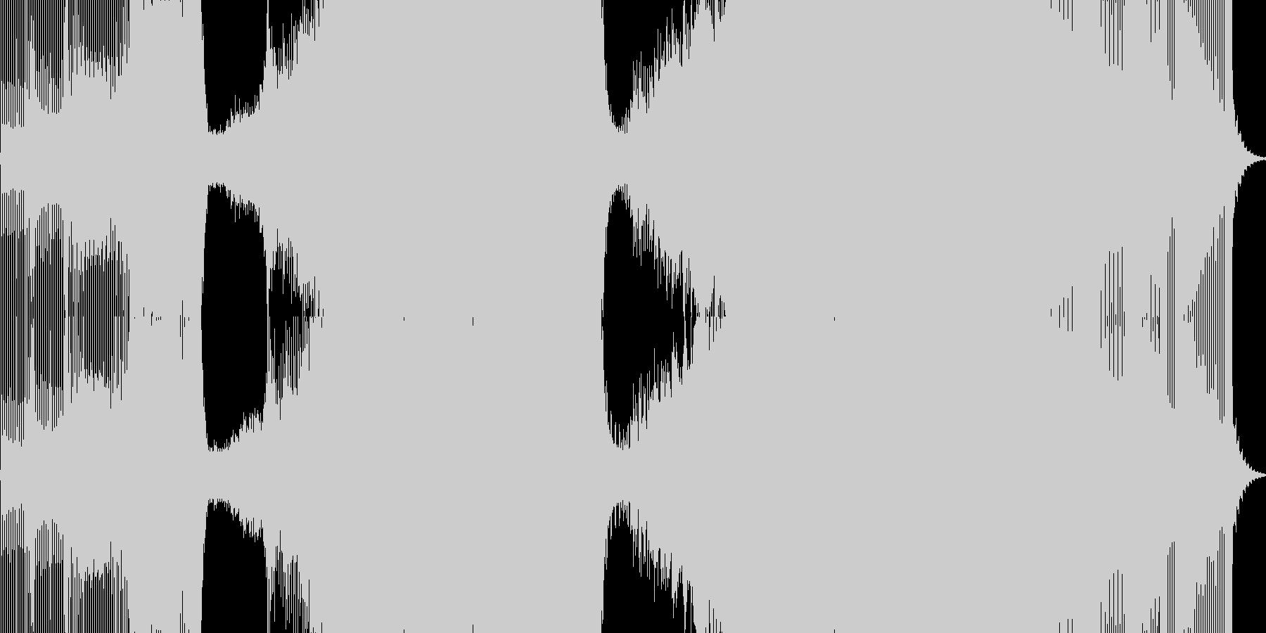 エレクトロハウス。 Edm、充電エ...の未再生の波形