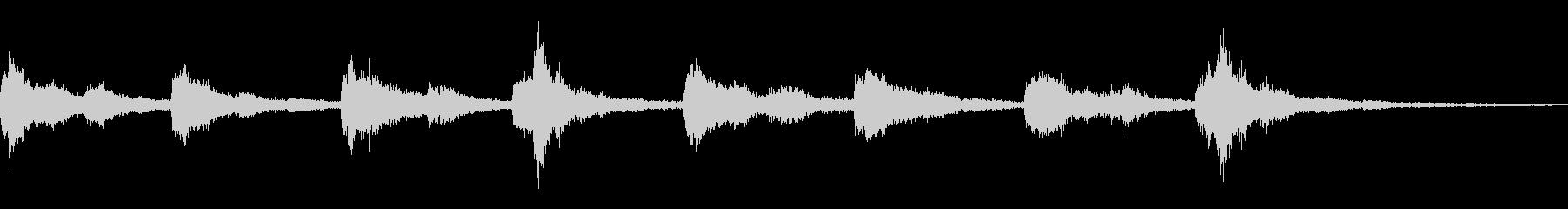 恐怖感を煽る音楽の未再生の波形