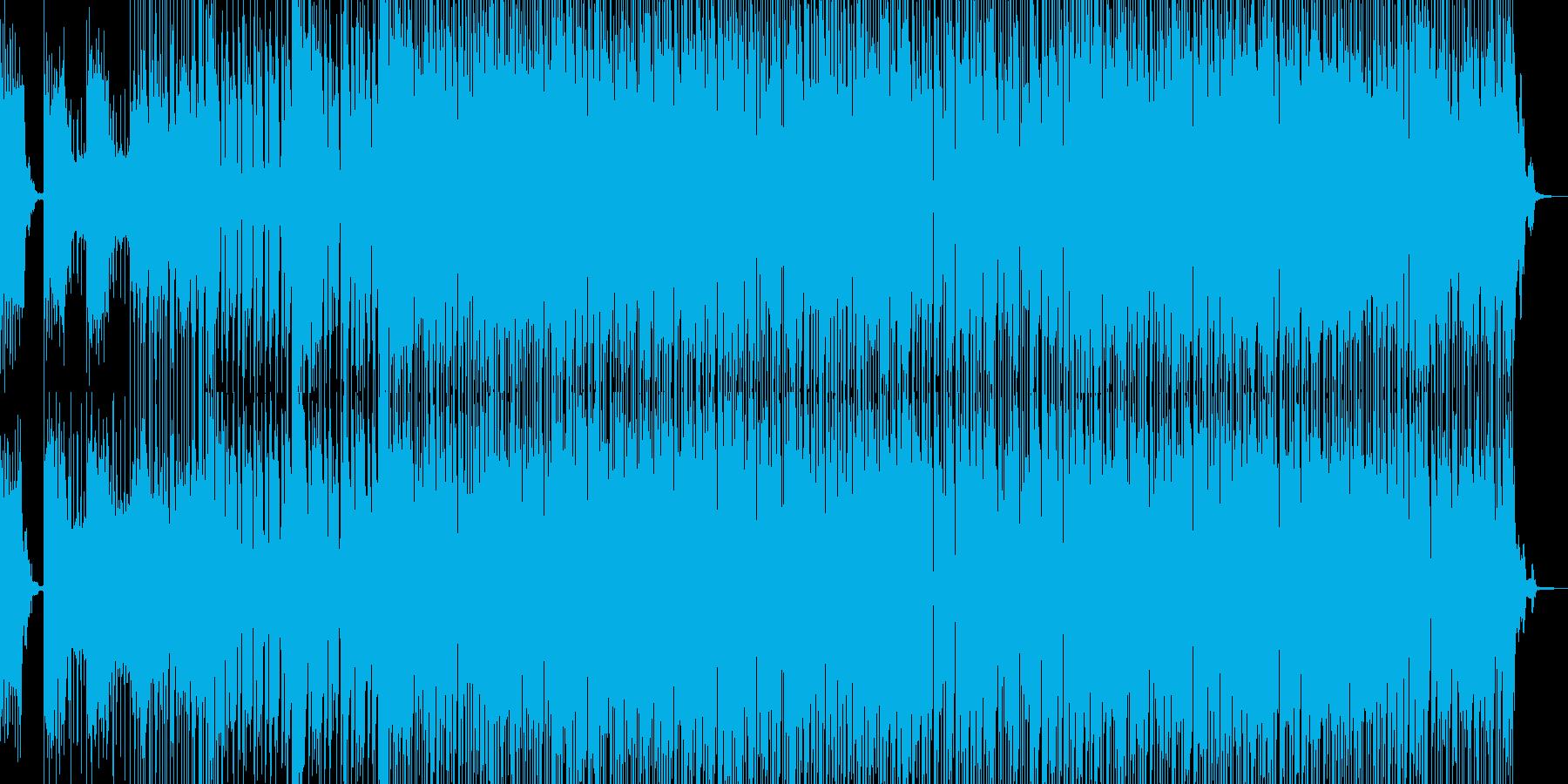疾走感あふれるEDMの再生済みの波形
