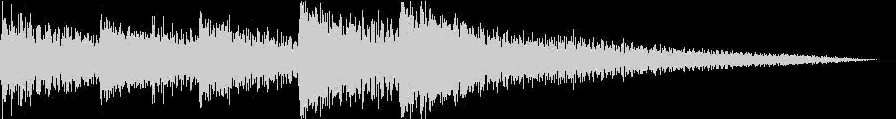 シンプル3秒ピアノジングル/サウンドロゴの未再生の波形
