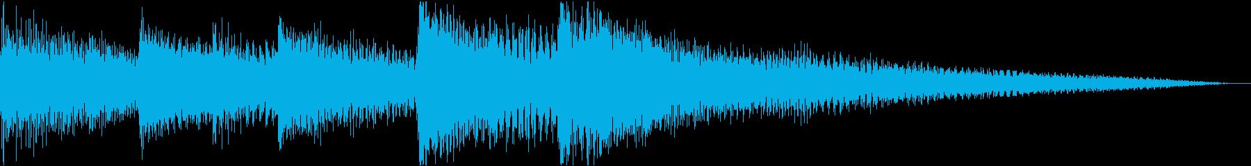 シンプル3秒ピアノジングル/サウンドロゴの再生済みの波形