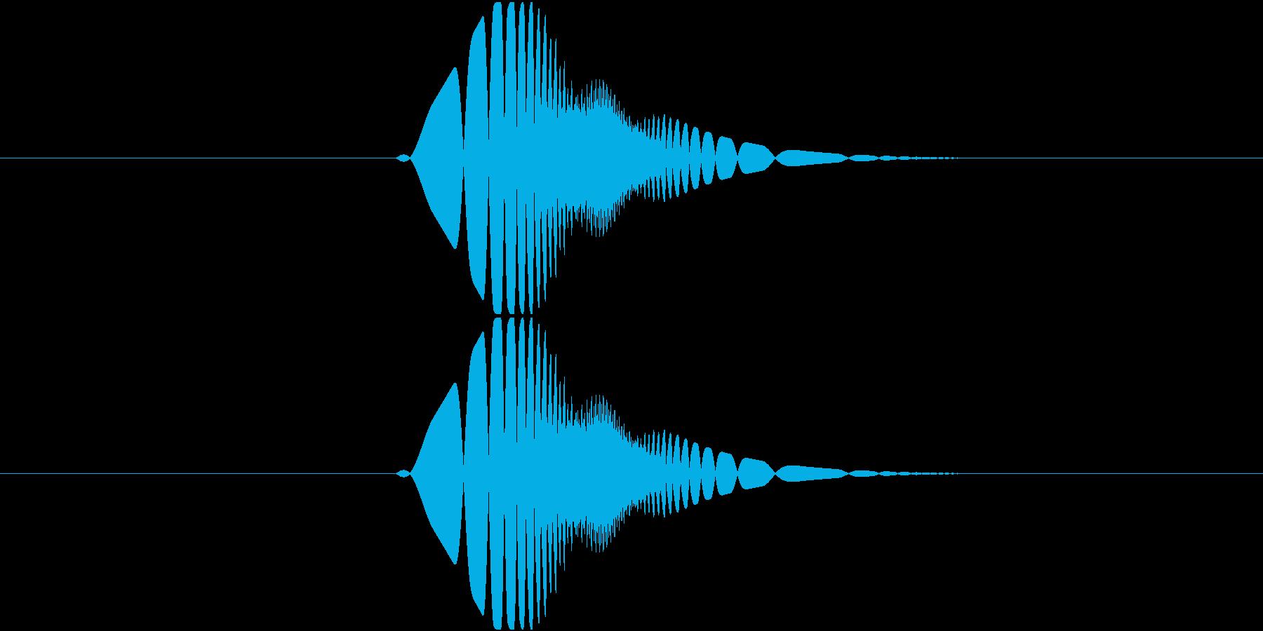 ブン①(攻撃・振る・空振り・スイング)の再生済みの波形